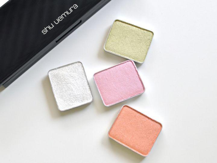 Shu Uemura eyeshadows pastels pink peach