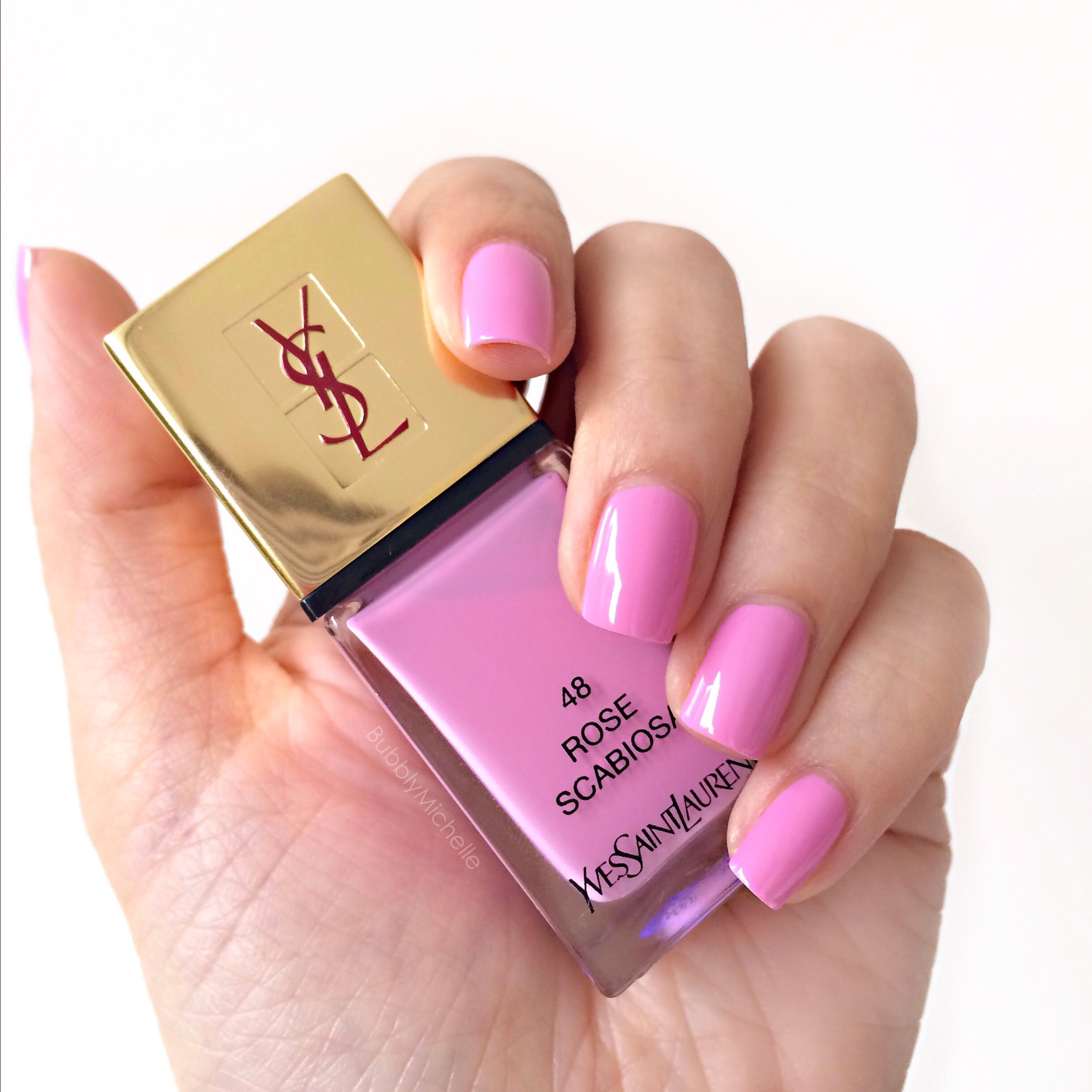 YSL Rose Scabiosa La Laque Couture nail lacquer review, photos and ...