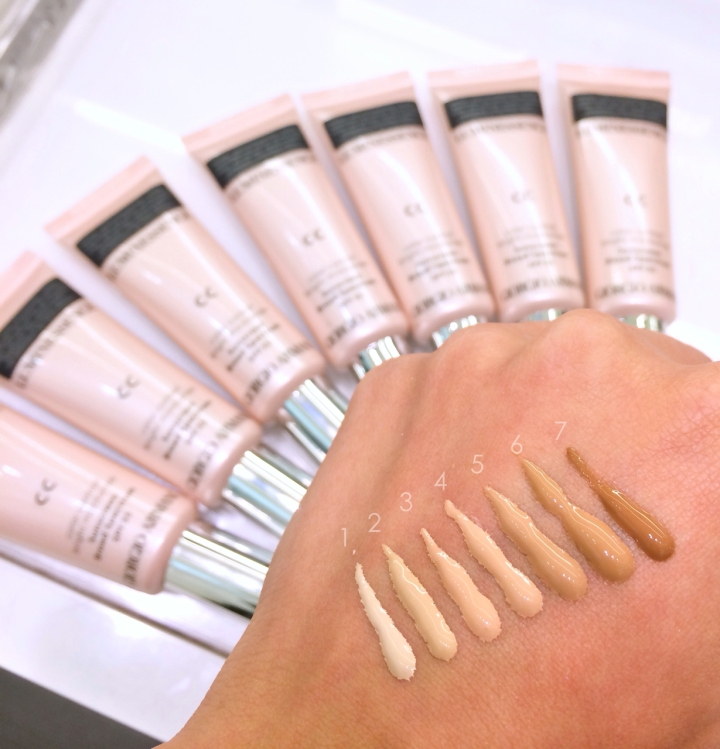 Armani Luminessence CC cream swatches and shade range