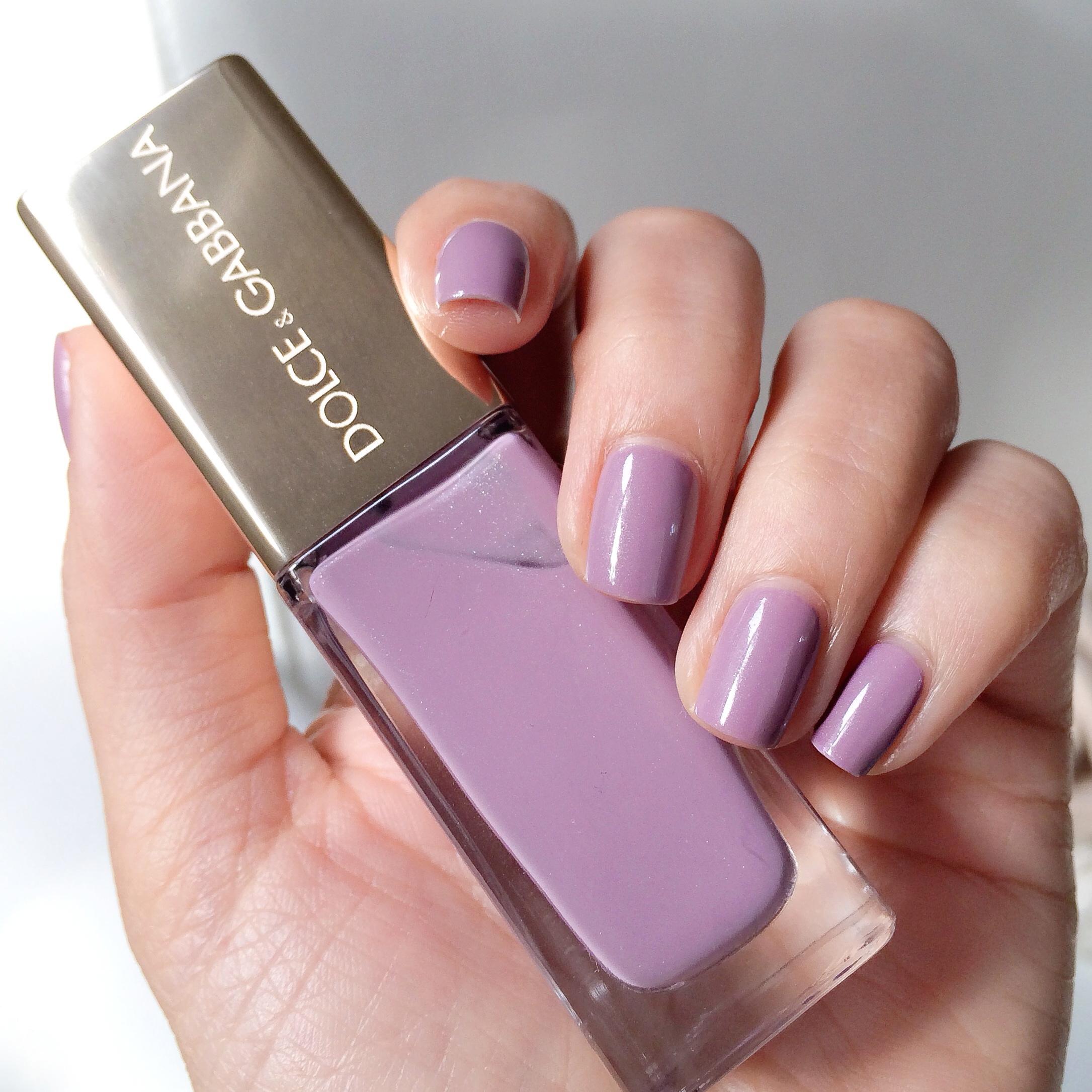 Lilac Nail Color: Dolce & Gabbana Nail Lacquer 107 Lilac