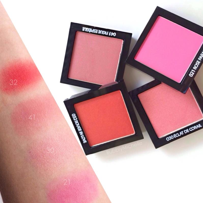 Lancome blush swatches spring blush subtil