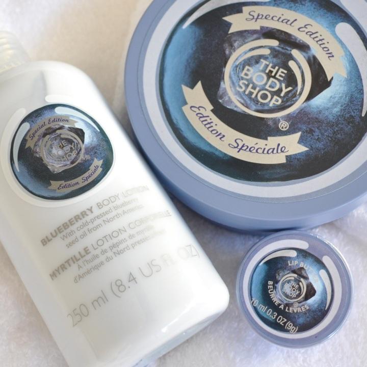 The Body Shop Blueberry range cream lotion
