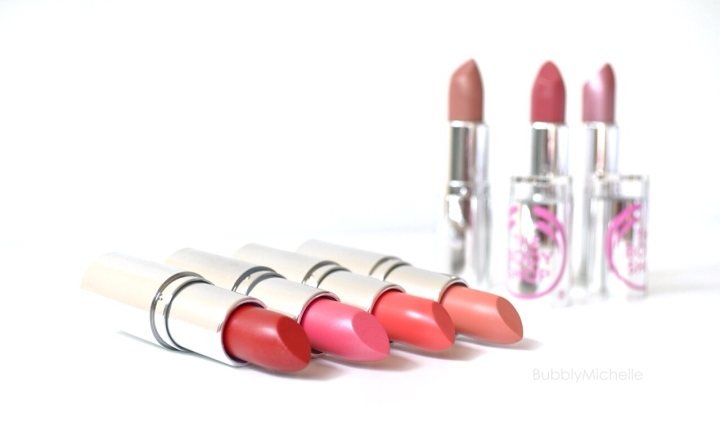 Body Shop Colour Crush lipsticks