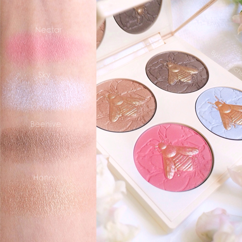 Chantecaille save the bees palette swatches