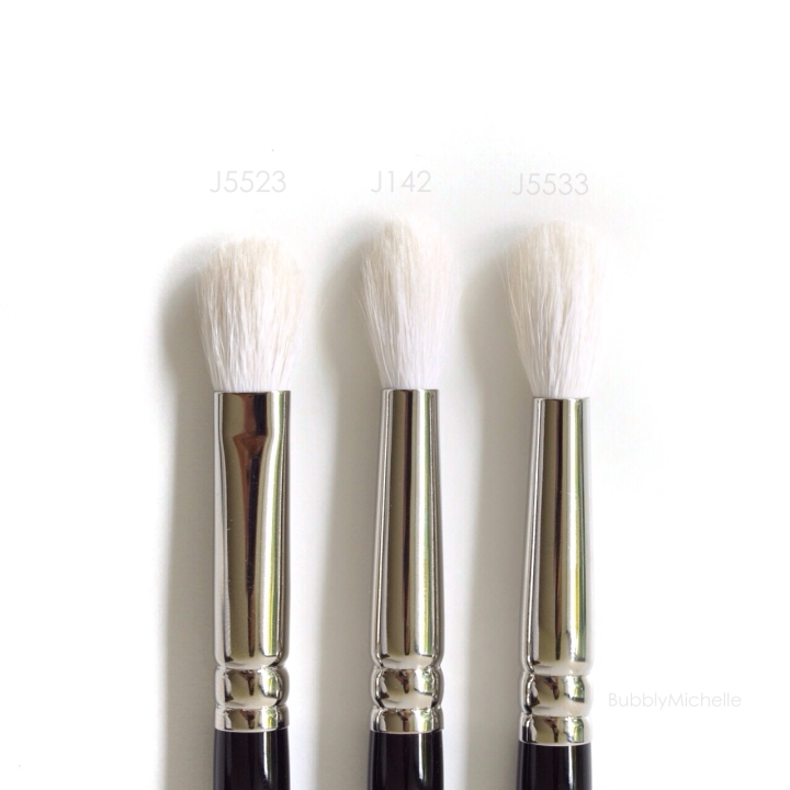 Hakuhodo eye brushes