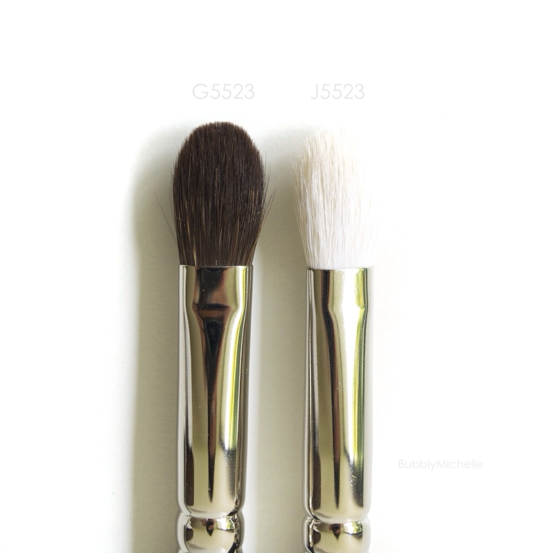 Hakuhodo brush comparison