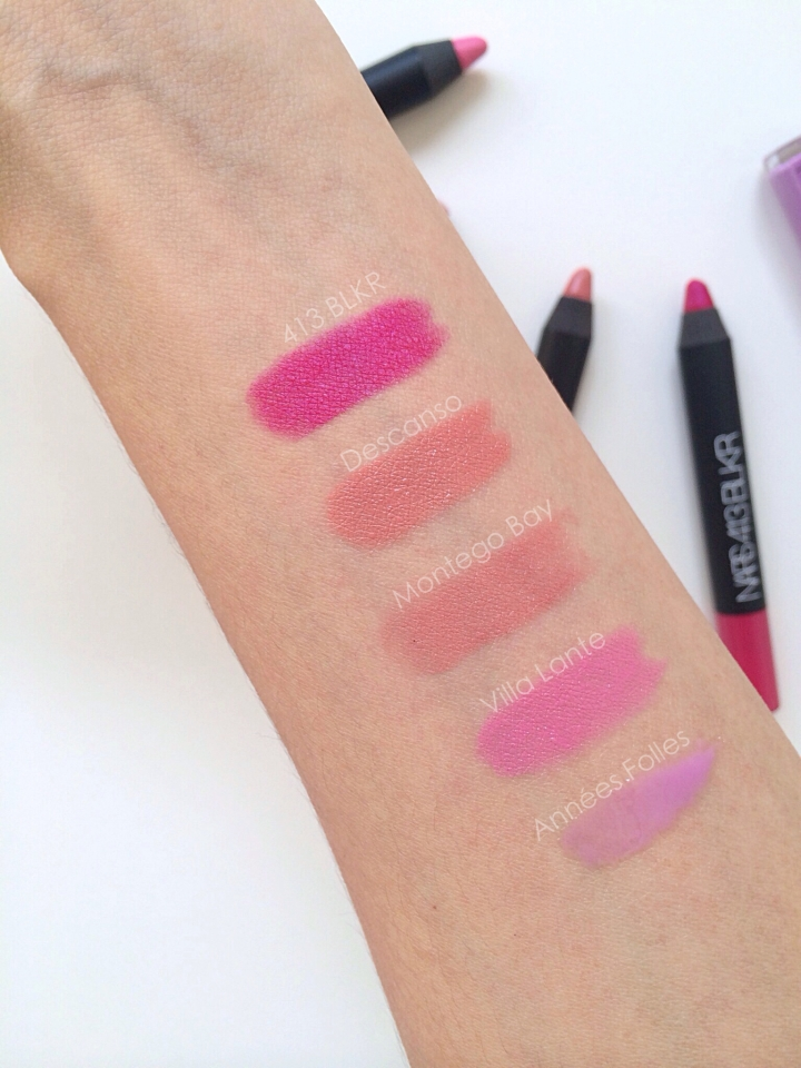 Satin Lip Pencils NARS Swatches