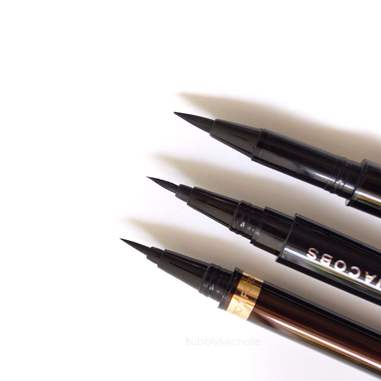 liquid eyeliner brush. tom ford shu uemura marc jacobs liquid liner eyeliner brush
