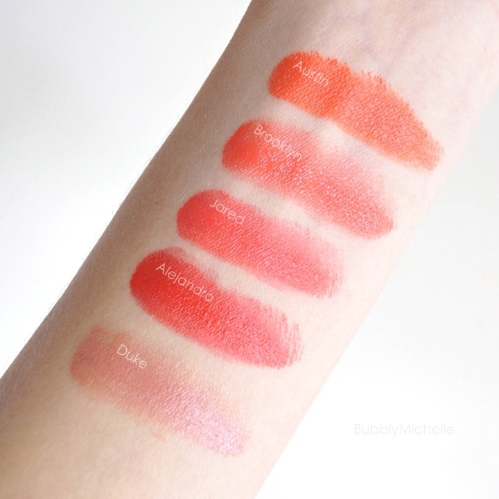 VDL Love Mark Lipstick Swatches