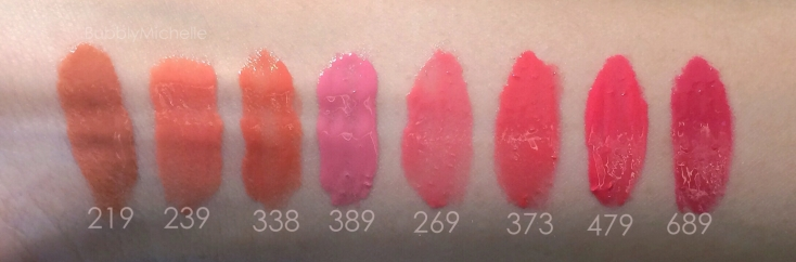 Dior Fluid stick swatches