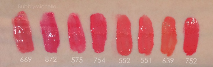 Dior fluid sticks swatch