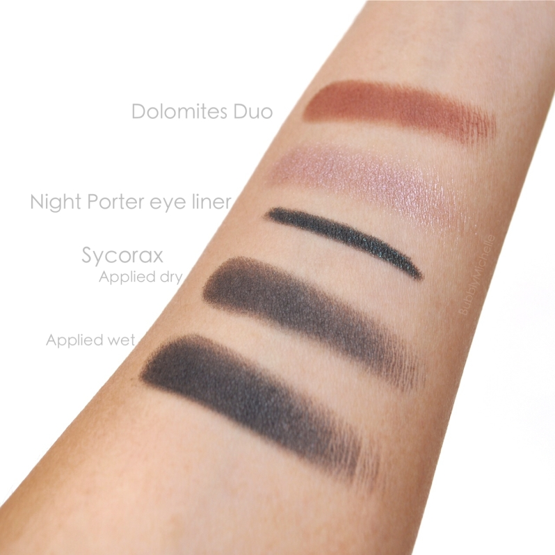 Nars swatches Dolomites sycorax