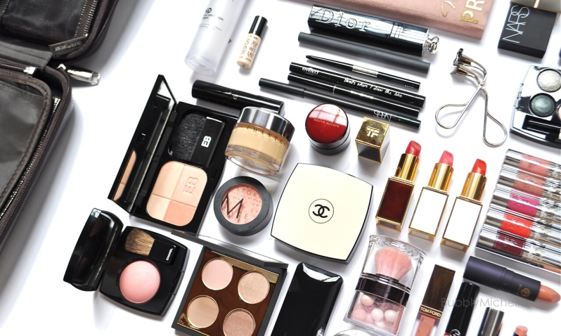 Travel makeup collection