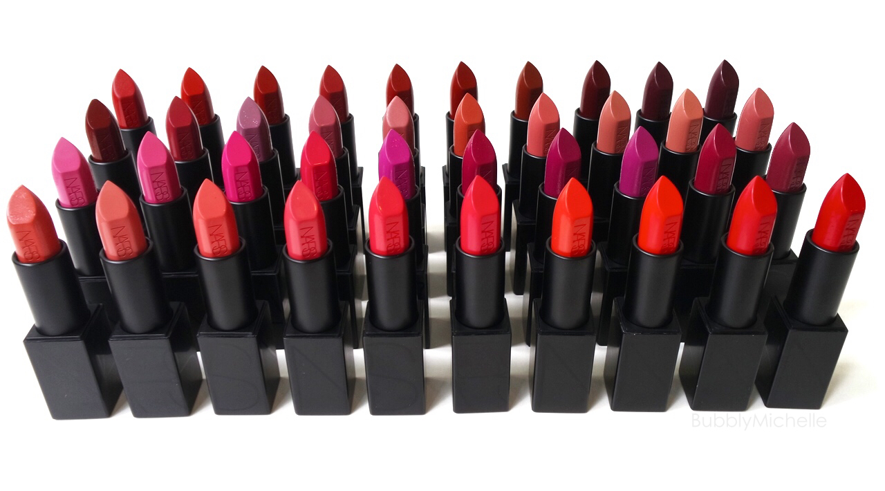 NARS Audacious lipstick swatches PART 1 – Bubbly Michelle