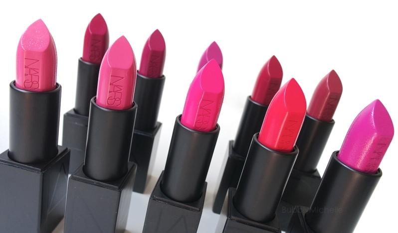 NARS Audacious lipsticks pink