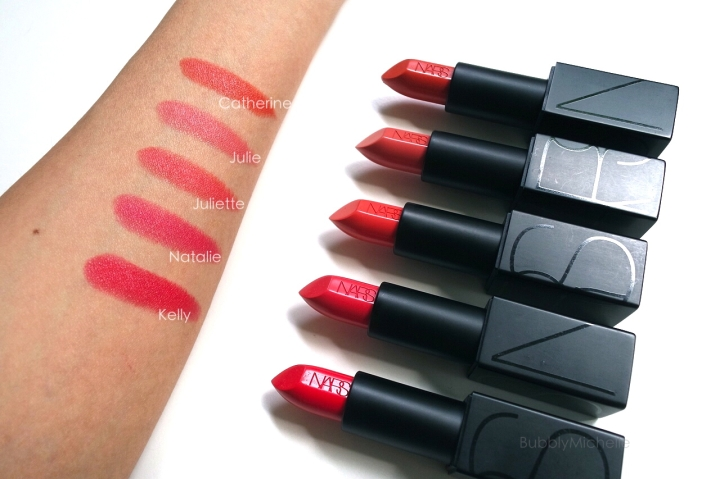 NARS audacious swatches
