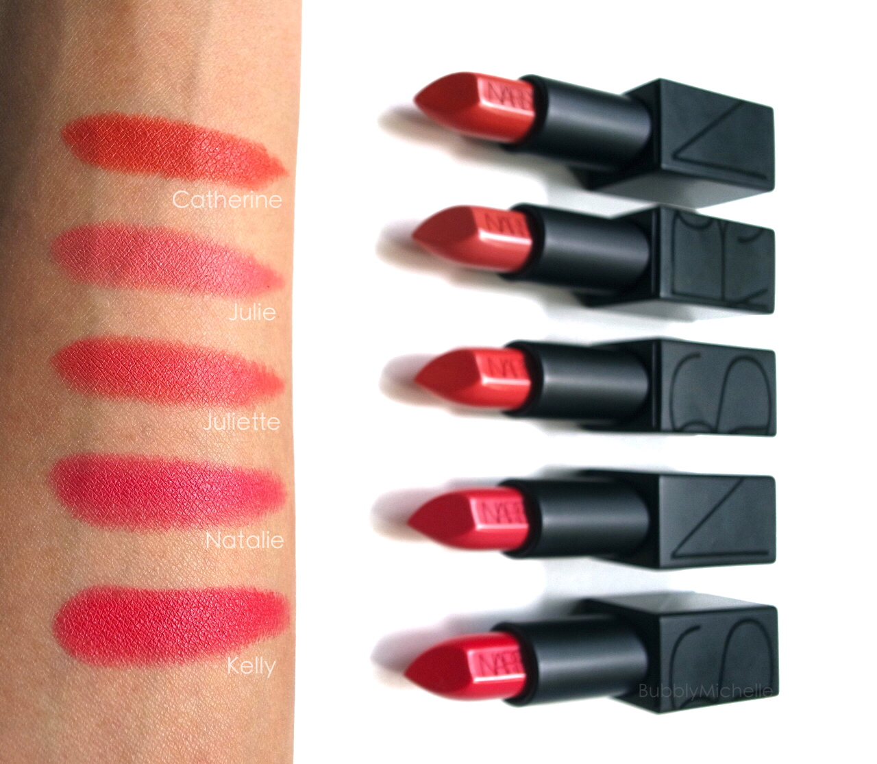 Extrêmement NARS Audacious lipstick swatches PART 2 – Bubbly Michelle LB35