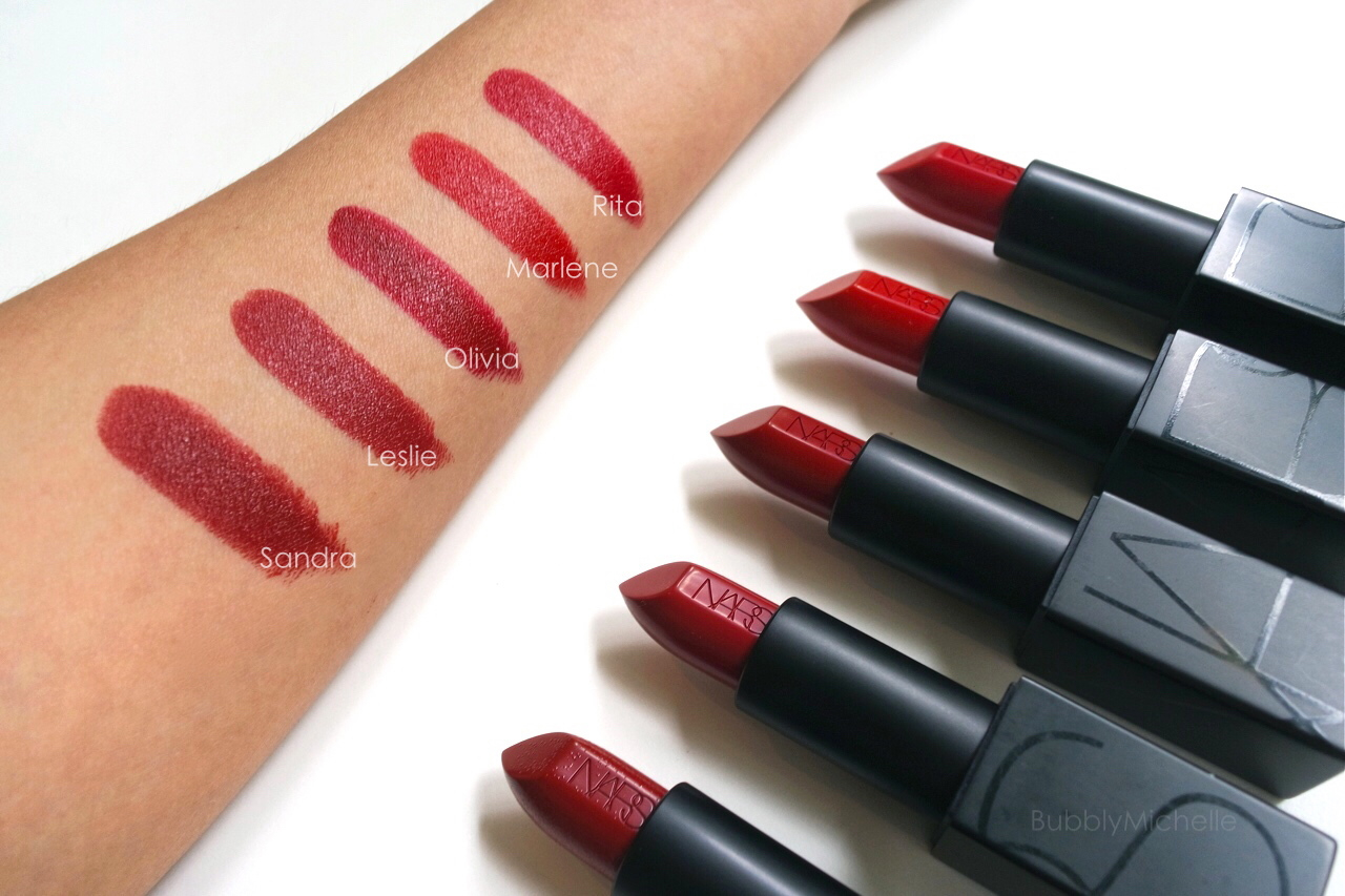 Bien connu NARS Audacious lipstick swatches PART 4 – Bubbly Michelle PQ54