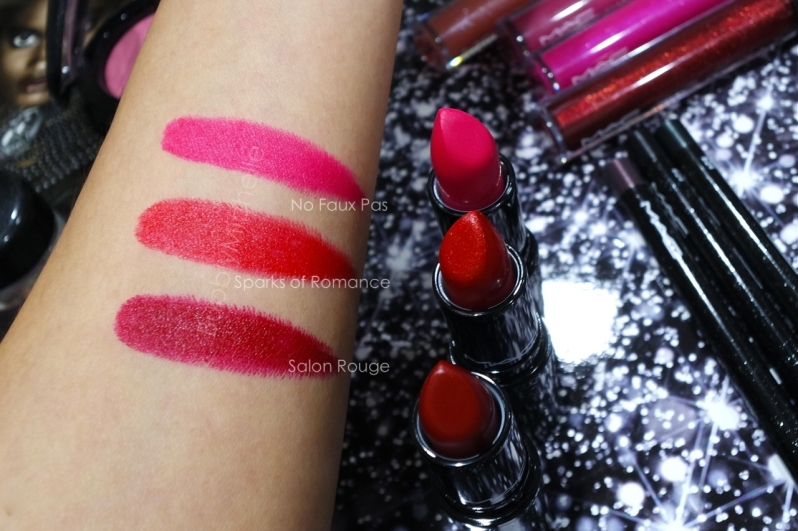 MAC Heirloom lipstick swatches
