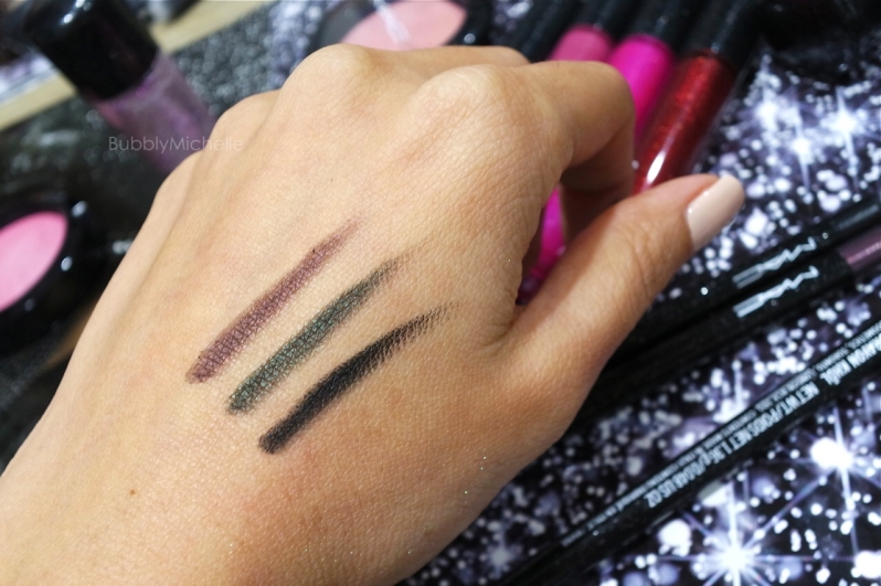 MAC swatches holiday 2014