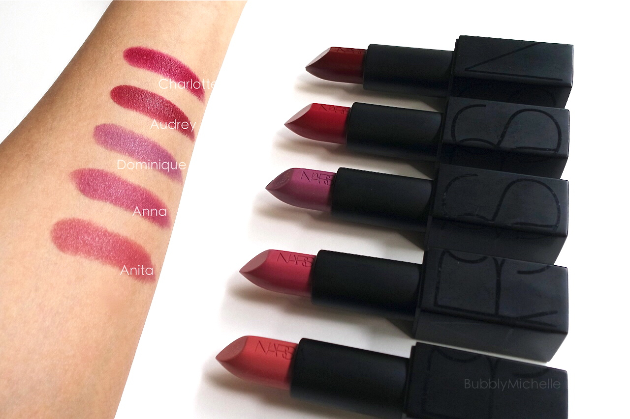 Célèbre NARS Audacious lipstick Swatches PART 3 – Bubbly Michelle AP35