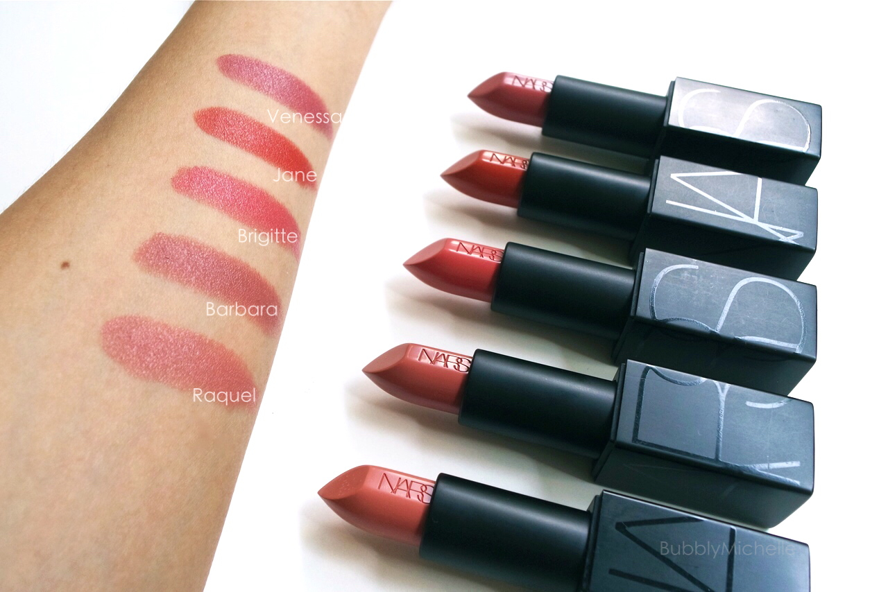Nars Audacious Lipstick Swatches Part 3 Bubbly Michelle
