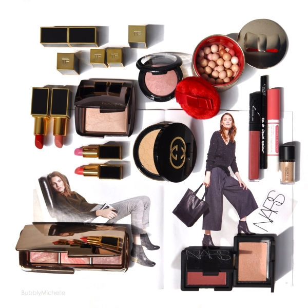 Guerlain Nars holiday 2014 Gucci makeup hourglass