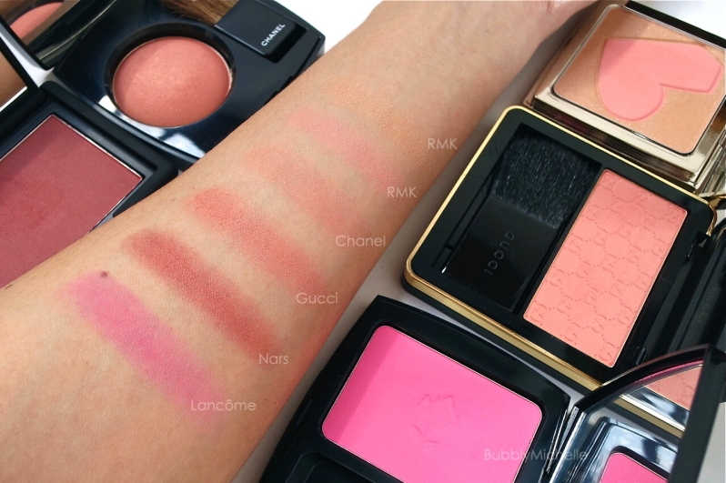 Blush swatches