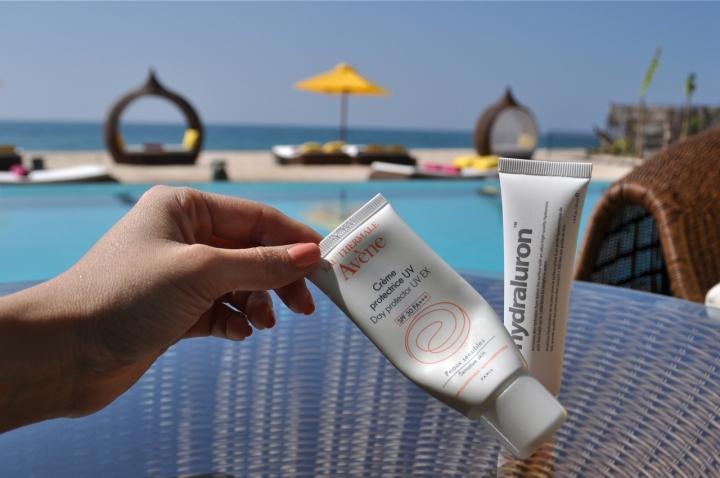 Travel skincare sunscreen