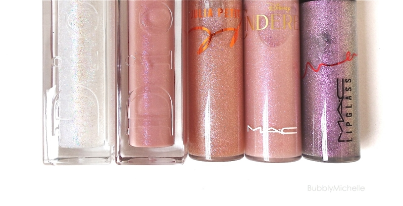 MAC Julia Petite gloss purpurine swatches