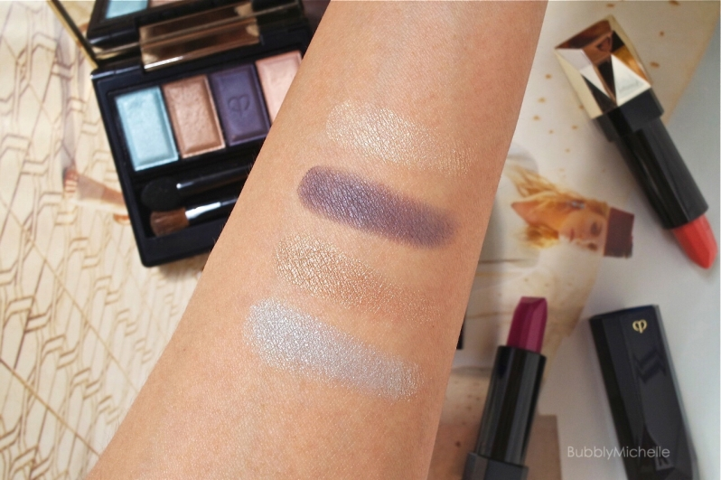 Cle de peau spring 2015 eyeshadow swatches