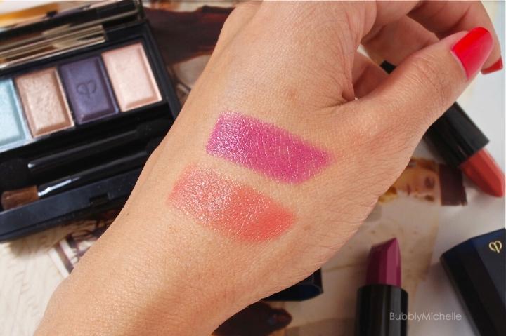 Cle de peau lipstick swatches