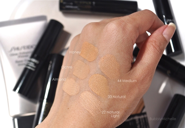 Shiseido Perfecting stick concealer swatches