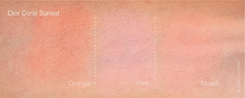 Dior Coral Sunset swatches