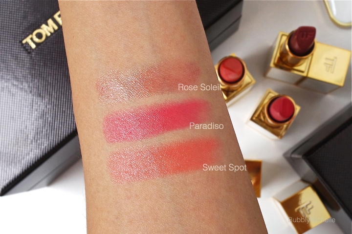 Tom Ford Lipstick Summer 2015 swatches