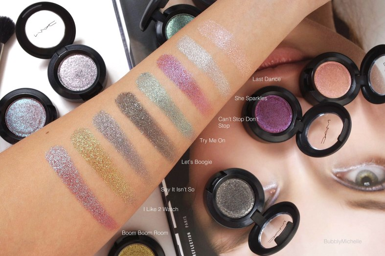 Le Disko Dazzleshadow swatches