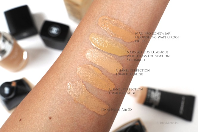 Foundation swatches named