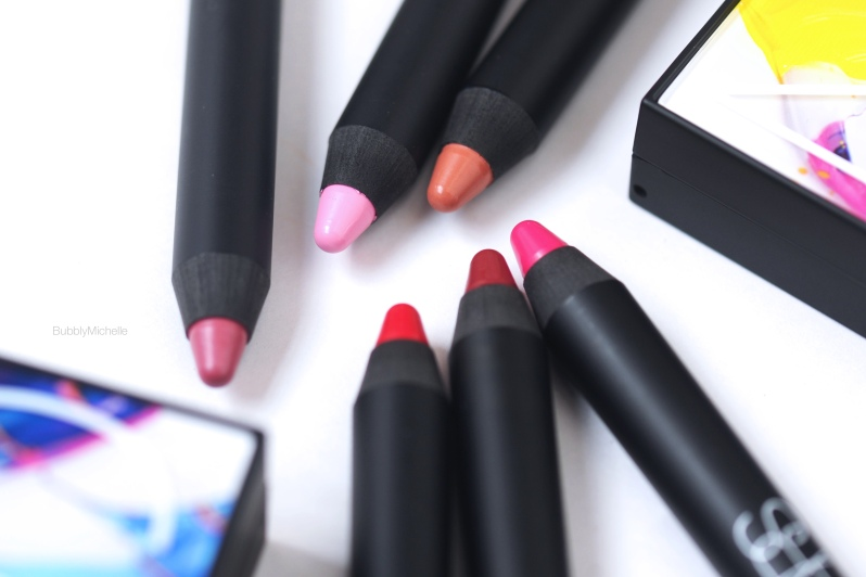 NARS lip pencils swatches
