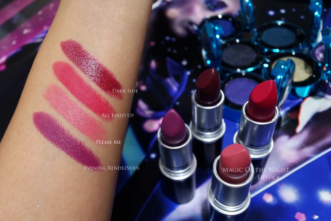 MAC Holiday 2015 lipstick swatches