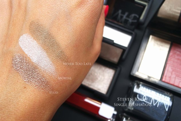 NARS Steven Klein eyeshadow swatches