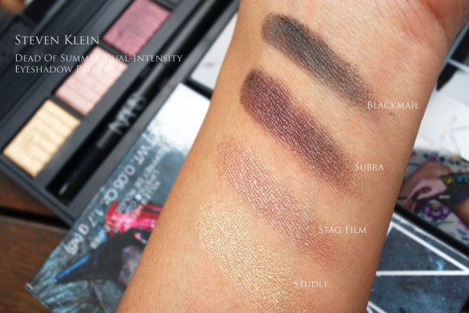 NARS dead of summer steven klein swatches