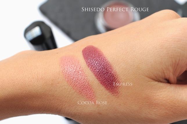 Shiseido autumn 2015 lipstick swatch
