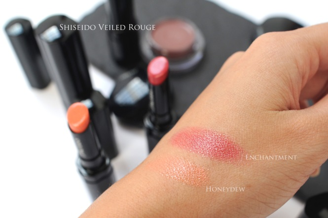shiseido Autumn 2015 lipstick swatches