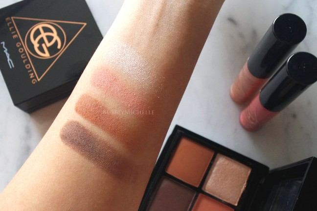 MAC Ellie Goulding swatches