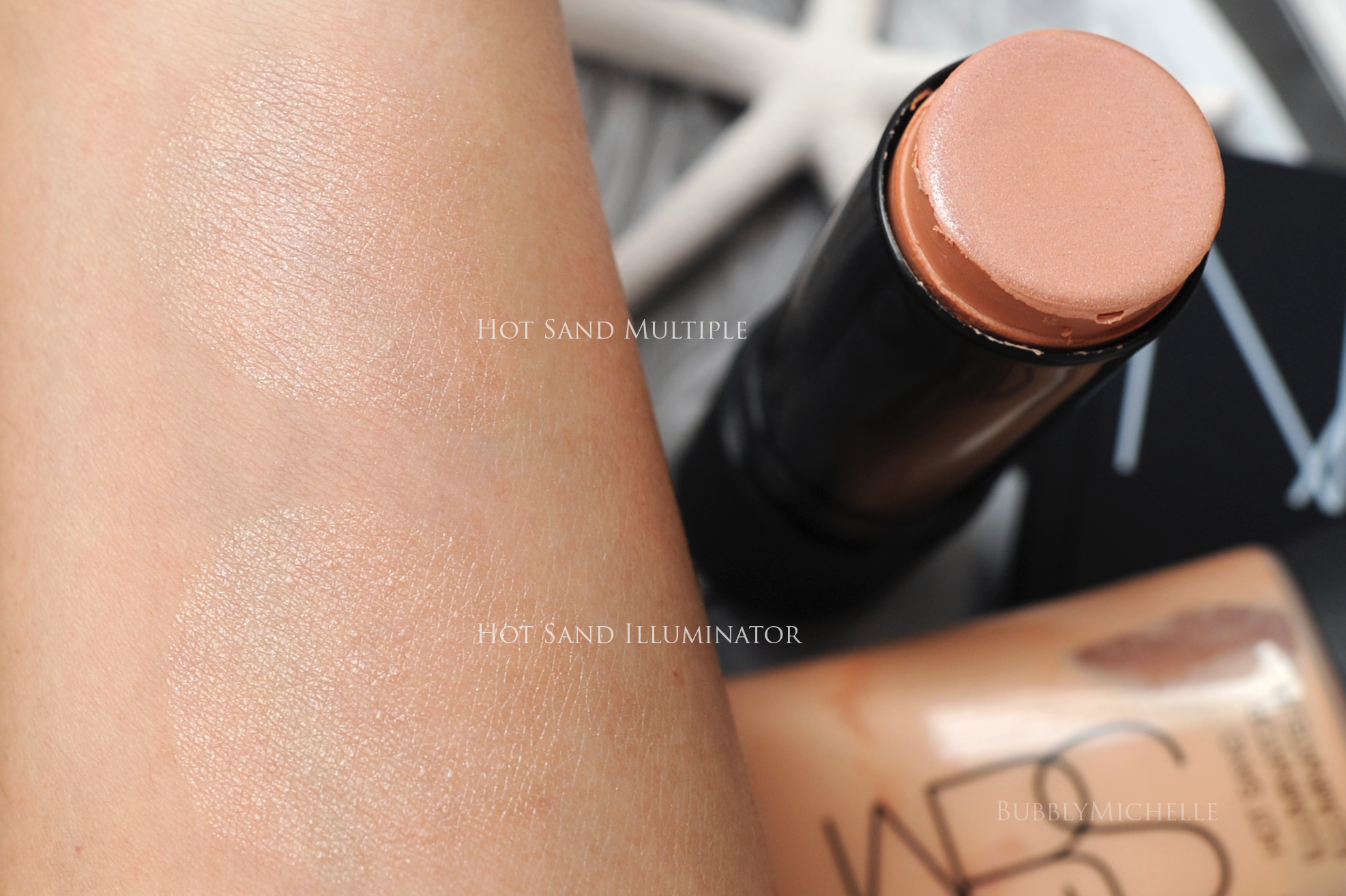 Nars Hot Sand Collection Review, Fotos farveprøver-6271