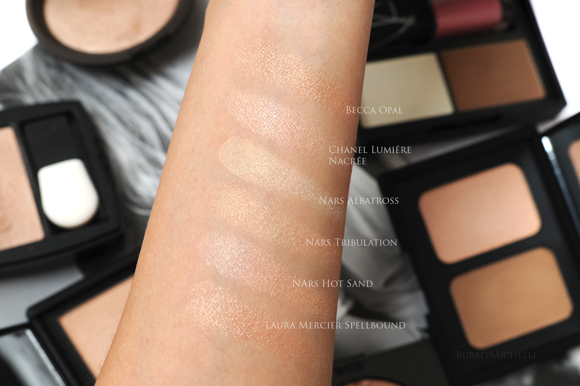 Nars Hot Sand Collection Review, Fotos farveprøver-8493