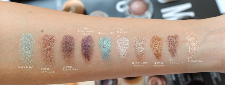 Tom Ford cream eyeshadow swatches