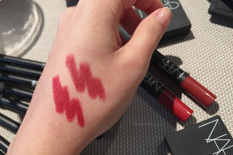 NARS fall 2016 velvet matte pencils swatch