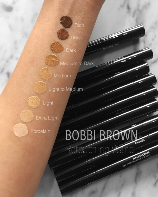 Bobbi Brown retouching wand swatches