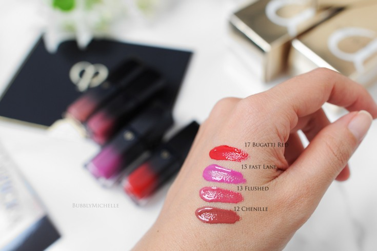 Cle de peau radiant liquid swatches